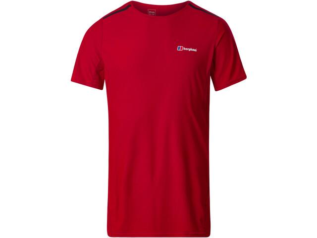 Berghaus Super Tech Sous-vêtement manches courtes à col ras-du-cou Homme, haute red